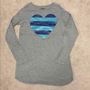 Girls grey Oshkosh tunic with heart size 10